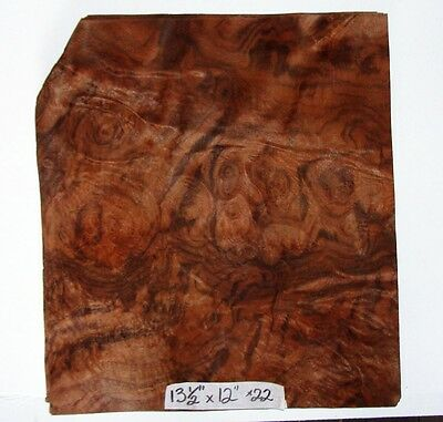 Real Wood Veneer Dark Walnut Burr For Guitars,dashboards,furniture,restorations