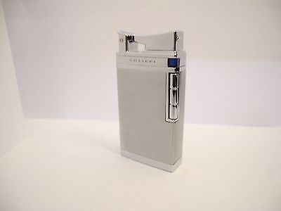Colibri Torch  Sapphire Battery Ingntion Lighter Brushed Silver/chrome New