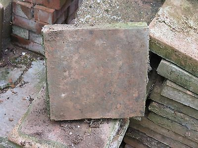 Original Reclaimed Victorian Square Clay Floor Tiles * 50