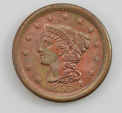 1855 Quality Liberty Head *Upright 5's* Large Cent *G39