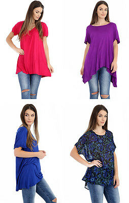 Ladies & Girls Plus Size Long Fit Plain Top Shirt For Casual Comfy Relaxing Big