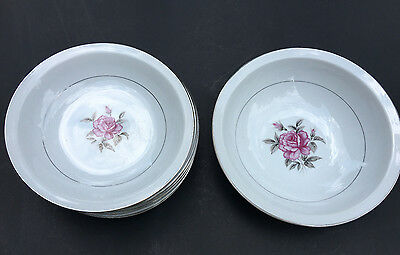 9-pc Modern China & Table Institute Inc. Summer Rose 8 Soup 1 Serving Bowl PDP16