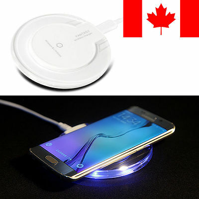 Wireless Charging Pad Qi Charger For Samsung Galaxy S6 S7 Edge Note 5 & more