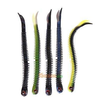 Soft 4pc 5g Simulation Worm Fishing Lure Bait Bass Fishing Head Tackle Fish Tool