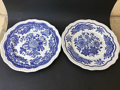 Set of 2 Spode Blue Room Collection JASMINE & BRITISH FLOWERS Dinner Plate PDP16