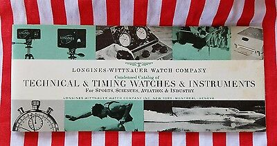 Vintage Longines Wittnauer Condensed Catalog of Technical & Timing Watches