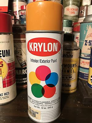 Vintage Krylon Spray Paint NOS 1991 SCHOOL BUS YELLOW Minty Fresh Hip Hop Dr.