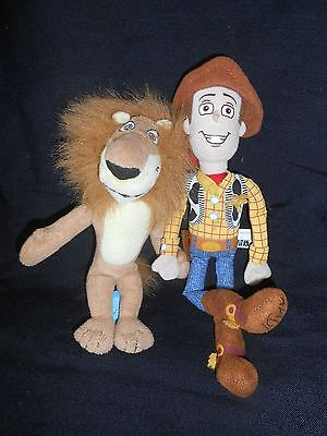 Soft toys - Woody from Toy Story and Lion from Madagascar
