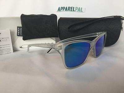 New Oakley HOLD ON Sunglasses Matte Clear/Sapphire Iridium Blue OO9298-09