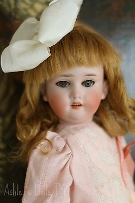 "Antique German Bisque Doll Marked ""O"", 14 IN, Antique Bisque Doll, Sleep Eyes"
