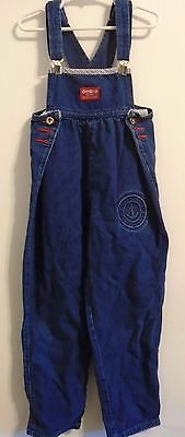 Oshkosh Denim Overalls, Size 6x, Anchor Embossed Patch