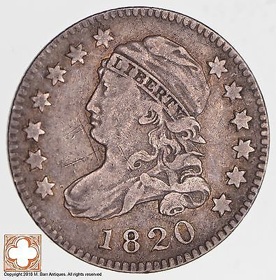 1820 Capped Bust Dime LG 0 *2684