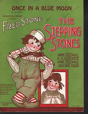 Once In A Blue Moon 1923 The Stepping Stones Jerome Kern  Sheet Music