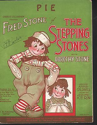 Pie 1923 The Stepping Stones Jerome Kern  Sheet Music
