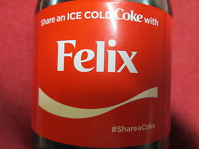 Brand New 2017 Share a Coke with FELIX-20 oz Collectible Coca-Cola Bottle-HTF