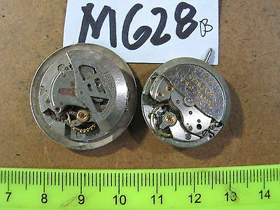 2pc Vintage BULOVA Automatic Gents MOVEMENT 10COAC & 10CSC Parts Watch AS-IS