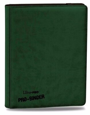 Ultra-Pro PREMIUM Pro-Binder GREEN With 20 Trading Card Pages to Hold 360 Cards