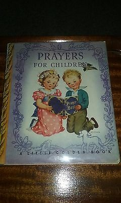 Prayers for Children.  A Little Golden Book.  With Dust Jacket 1st Edition