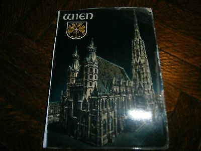 Vintage Wien  Germany Post Card Folding Booklet 10 Pictures