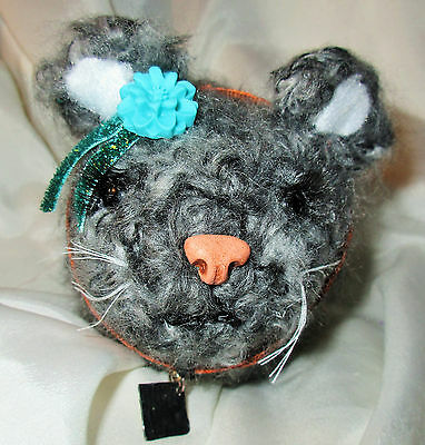GUINEA PIG DOLL ooak folk art hand crocheted plush fabric soft baby teddy bear