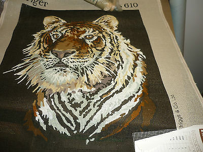 """Penelope -  """"tiger"""" - Tapestry Canvas  - New"""
