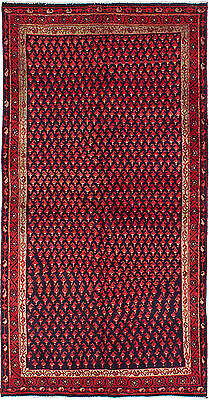 "Hand-knotted Persian Carpet 3'8"" x 7'2"" Persian Vintage Wool Rug...DISCOUNTED!"