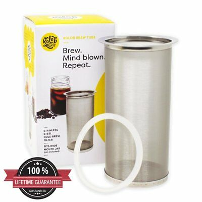 Kolob Brew Tube - Cold Brew Coffee Maker - Reusable Stainless Steel Filter for