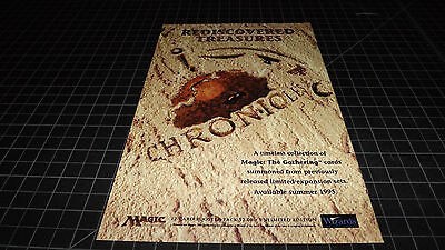 Magic the Gathering CHRONICLES  PRINT AD 1995 RARE   MTG  Trading Cards Pack