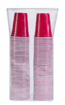 SOLO Cup Company 100 Piece Cold Plastic Party Cups, 16 oz., Red