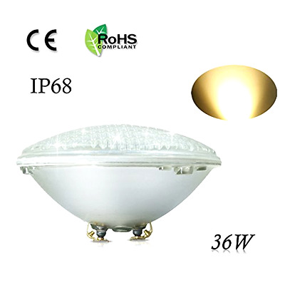 LED Replacement Pool Light Bulb 36W 12V Waterproof Warm White PAR56 COOLWEST