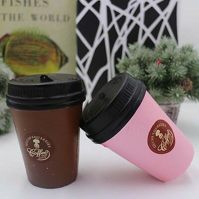 11CM Squeeze Squishy Mini Tea Coffee Cup Slow Rising Soft Toy Collect Gift HE