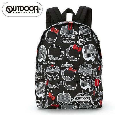 Hello Kitty OUTDOOR Backpack Black Apple ❤ Sanrio Japan