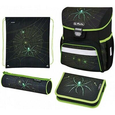 Herlitz Schulranzen Loop Plus Spider Limited Edition Spinne 4er-Set