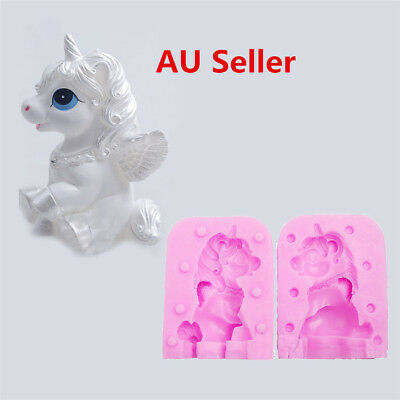 Unicorn Horse Molds Candle Shaped Handmade Soap Cake Silicone Mould 3D DIY ON
