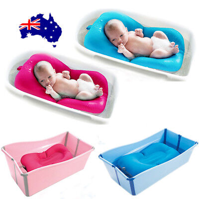 Baby Bath Tub Pillow Pad Air Cushion Floating Soft Seat Infant Newborn ON