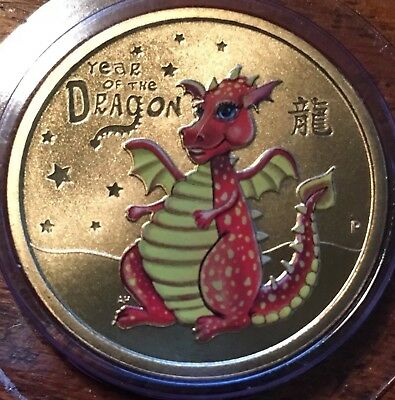 Year Of The Dragon  $1 Coin Mint Mark P 2012 One Dollar Coin & Holder Unc Sale