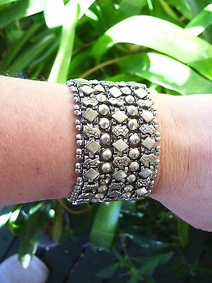 Antique Victorian Sterling Silver Book Chain Bracelet-Anglo Indian 74 grams.