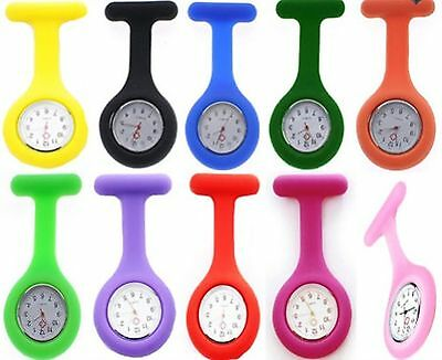 Fashion Nurse Watch Silicone Brooch Tunic Fob Watches Colorful Doctor's Overall