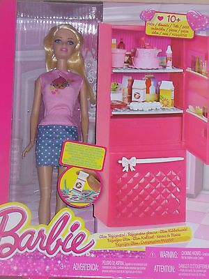 Barbie Glam Refrigenation Set Doll And Accessories New