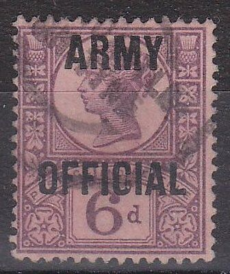 GB QV - SG O45 - Army OFFICIAL 6d - fine used, cat £60