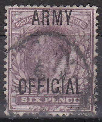 GB KGVII - SG O50 - Army OFFICIAL 6d - used, cat £80