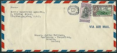 Jamaica 1951 Cover To Germany, Nice Stamps And Postmarks -Cag 300914