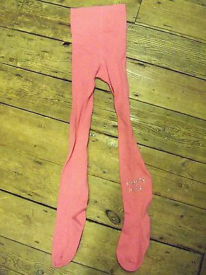 Vintage 90s New Girls Pink thick tights with Boogie Baby diamante motif  Woolies