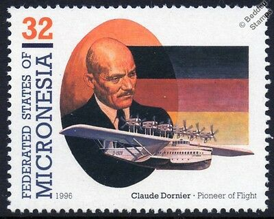 Claude Dornier Do-X Flying Boat Seaplane Aircraft Stamp (1996 Micronesia)