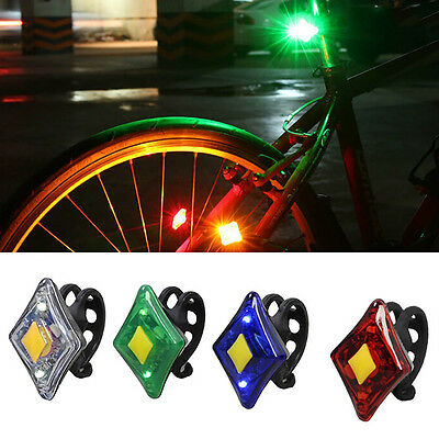 USB Rechargeable Rhombic LED MTB Bike Bicycle Front Rear Tail Light 5 Modes Lamp
