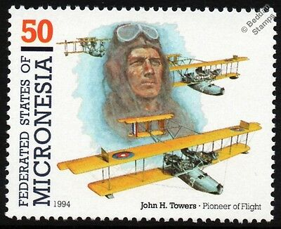 John Towers & CURTISS NC-4 Flying Boat Seaplane Aircraft Stamp