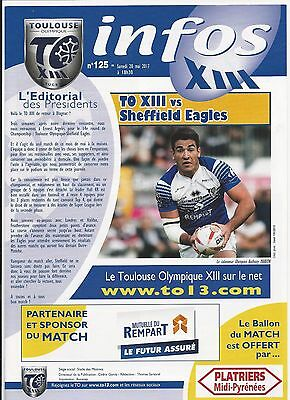 2017 Toulouse V Sheffield Eagles Rugby League Programme