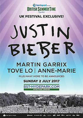 3 x Justin Bieber Tickets for Brisitsh Summer Time at Hyde Park 2nd July 1pm
