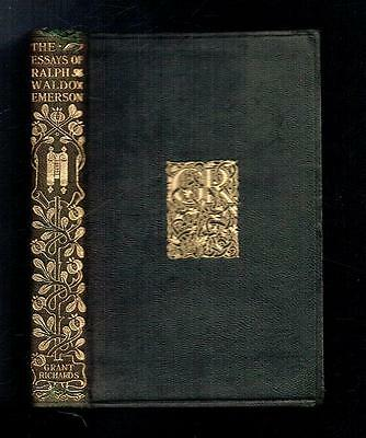 Emerson, Ralph Waldo; Essays. Grant Richards 1901 Good