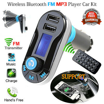 Car Wireless Bluetooth MP3 Player FM Transmitter Music Radio LCD SD USB Charger